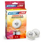 Набор мячей для настольного тенниса Start Line Standart 2** 6шт/40мм белый, фото 1