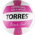 Мяч волейбольный пляжный Torres Beach Sand Pink, фото 1