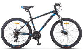 "Велосипед STELS Navigator 500 MD 26 F010 (2020) (Серебристый - синий,18""), фото 1"
