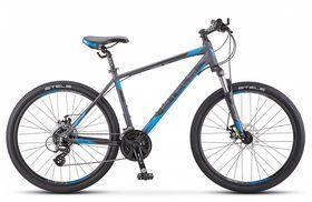 "Велосипед STELS Navigator 630 MD 26 V020 (2019) (Антрацитовый - синий,20""), фото 1"