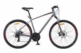 "Велосипед STELS Cross 130 MD Gent 28"" V010 (2019) (Серый,17""), фото 1"