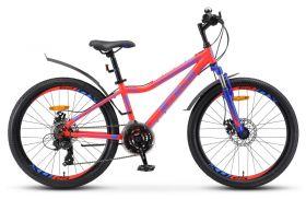 """Велосипед STELS Navigator 410 MD 24 21-sp V010 (2020) (Неоновый - красный,12""""), фото 1"""