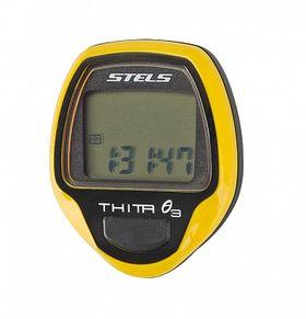 Велокомпьютер Thita-3 жёлтый, 10 функций, фото 1