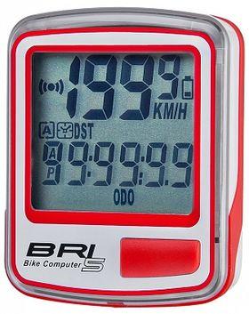 Велокомпьютер BRI-5 5 функций бело-красный, фото 1